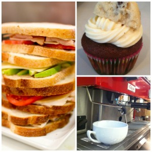 Sandwiches, coffee, and cupcakes - oh my!