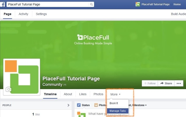 FB more manage tabs